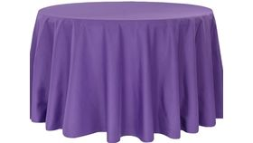 """Image of a 108"""" Purple Tablecloth"""