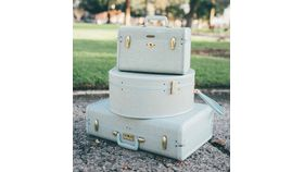 Image of a Brianna Robin's Egg Blue Suitcase