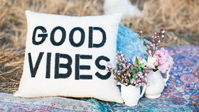 Image of a Good Vibes Pillow