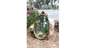Image of a Guinevere Ornate Oval Mirror