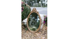 Image of a Sydney Ornate Gold Oval Mirror