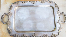 Image of a Argentina Ornate Metallic Tray