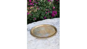 Image of a Bamboo Oval Gold Tray
