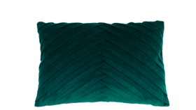 Image of a Emerald Green Pleated Accent Pillow