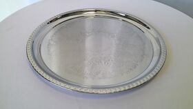 "Image of a 16"" Round Stainless Steel Tray"