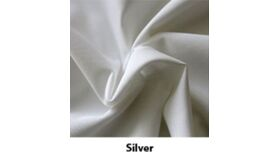 Image of a 10' Tall 5' Wide Drape Silver Polyester Premier