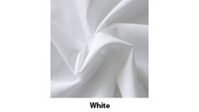 Image of a 8' Tall 5' Wide Drape White Polyester Premier