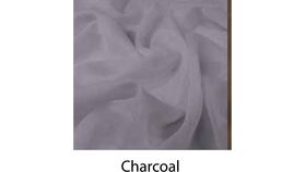 Image of a 9' Tall 10' Wide Drape Charcoal Sheer