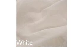 Image of a 15' Tall 10' Wide Drape White Sheer