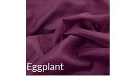 Image of a 15' Tall 10' Wide Drape Eggplant Sheer