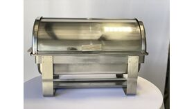 Image of a 8 qt. Rectangular Roll Top Chafing Dish (Lines)