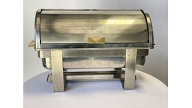 Image of a 8 qt. Rectangular Roll Top Chafing Dish (Angles)