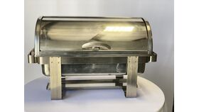 Image of a 8 qt. Rectangular Roll Top Chafing Dish (Handle)