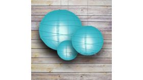 "Image of a 20"" Turquoise Paper Lantern"