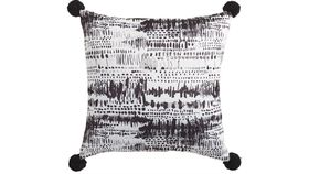 Image of a Abstract Black & White PIllow