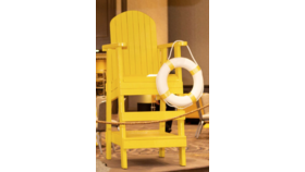 Image of a Oversized Lifeguard Chair