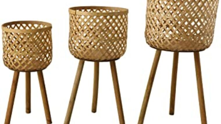 Picture of a Bamboo Floor Basket