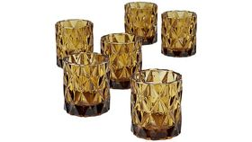 Image of a Amber Glass Votives