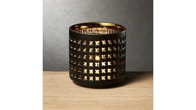 Image of a Black and Gold Metal Votives
