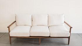 Image of a Catalina White Linen Sofa