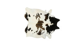Image of a Black + White Cowhide