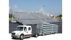 Image of a 15 Row, 450 seat Mobile Bleacher
