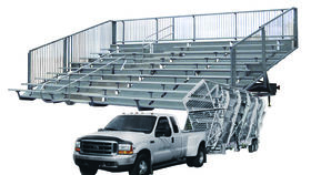 Image of a 10 Row, 300 seat Mobile Bleacher