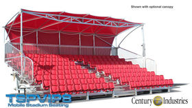 Image of a 8 Row VIP, Mobile Bleacher With Canopy