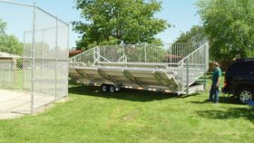 Image of a 7 row, mobile bleachers