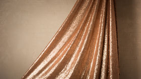 """Image of a 120"""" ROUND BLUSH SEQUIN TABLECLOTH"""