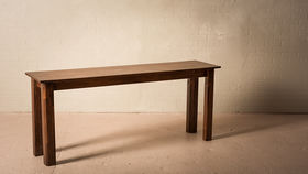 """Image of a 6'X18"""" CONSOLE CHESTNUT TABLE"""