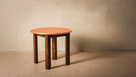 """Image of a 36"""" ROUND COPPER CHESTNUT TABLE"""