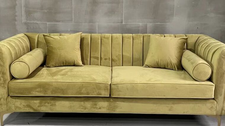 Picture of a Lisbon Gold Sofa