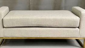 Image of a Cole Linen Fabric Bench