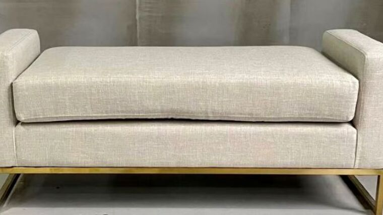 Picture of a Cole Linen Fabric Bench