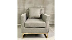 Image of a Botti Linen Lt Grey Arm Chair