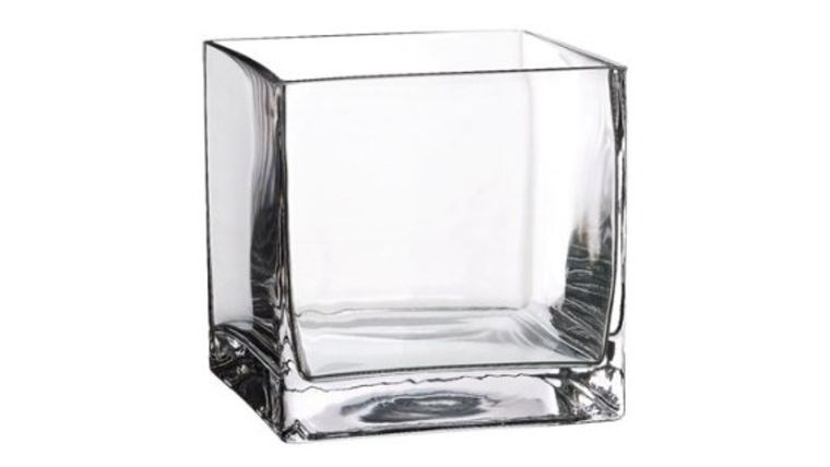 "Picture of a 4""x4"" Clear Glass Cube"