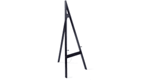 Image of a Easel - Wood - Black