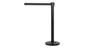 Image of a Stanchion Black