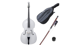 Image of a White Upright Bass