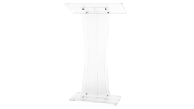 Image of a Acrylic Podium w/ custom printed logo