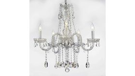 Image of a MEDIUM - CLEAR CRYSTAL CHANDELIER