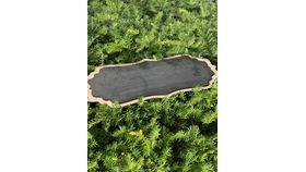 Image of a *Walnut Oblong Wood Framed Chalkboard