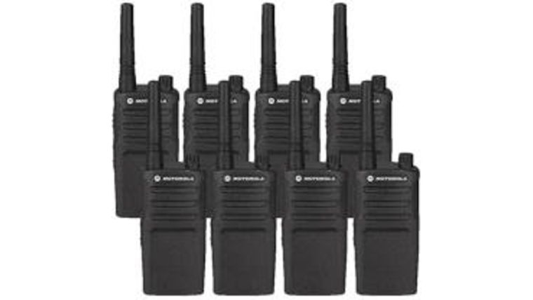 Picture of a Motorola 10 Pack walkies talkie
