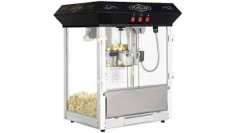 Picture of a Black Popcorn Machine Top 8 oz