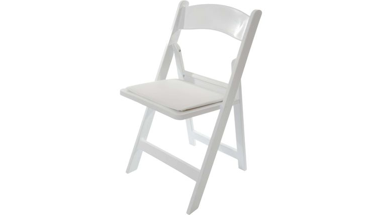 Picture of a White Resin Chair