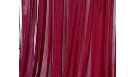 Image of a 10' x 10' Burgundy Sheer Drape