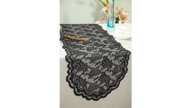 """Image of a 14"""" x 108"""" Black Lace Runners"""