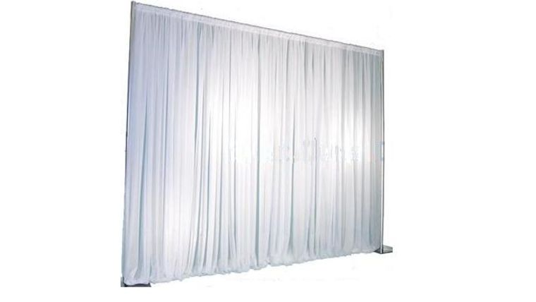 Picture of a 10FT White Sheer Backdrop