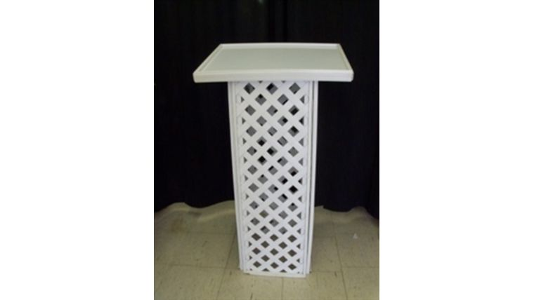 Picture of a Lattice Register Stand